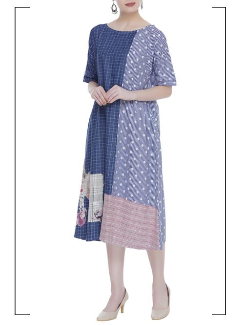 Checkered Midi Dress