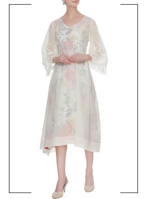 Overlap Midi Dress