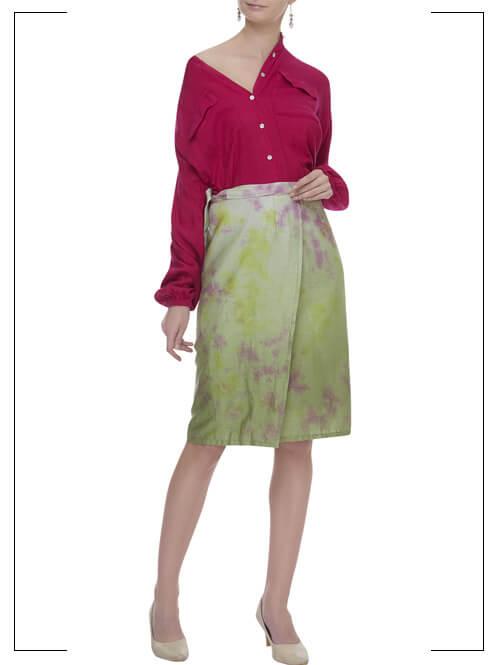 Tie-Dye Skirt & Shirt Set
