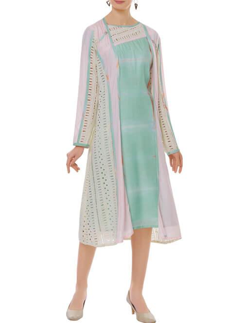 Tie-Dye Dress Jacket Set