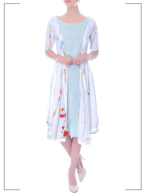 Tie-Dye Jacket Dress Set
