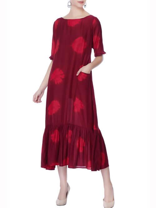 Dyed Midi Dress