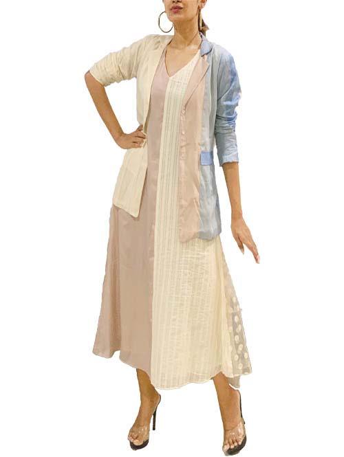 Pastel Colourblock Jacket & Dress Set