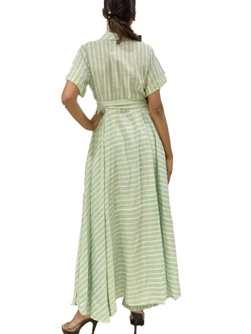 Mint striped tunic set