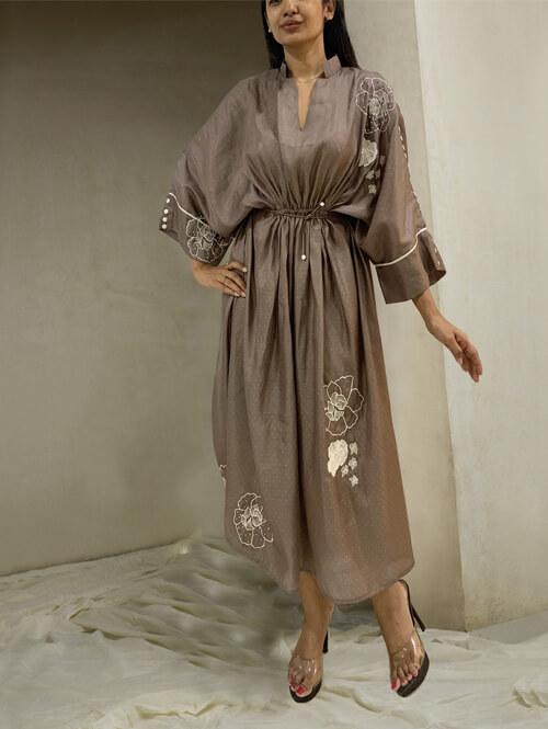 Shadow Grey Kaftan dress