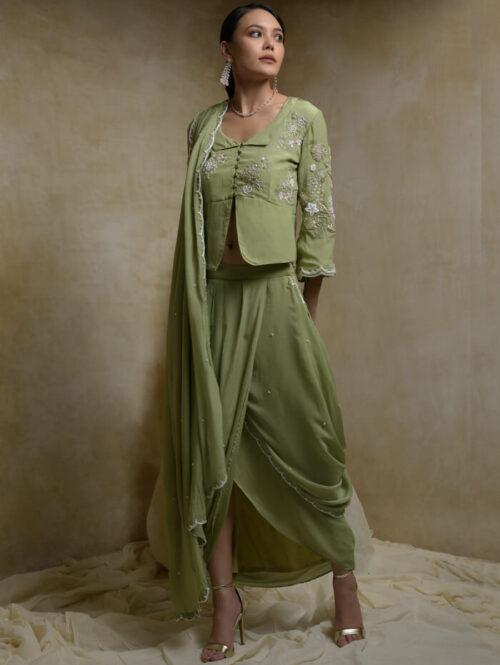 Draped saree with blouse